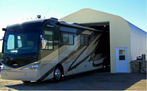 How tall and wide should an RV garage door be?