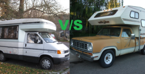 Class B Motorhome vs Truck Camper (15 key differences)