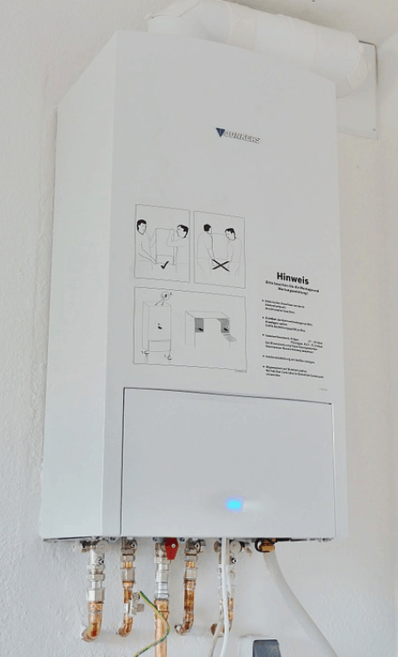 tankless water heater in a rv