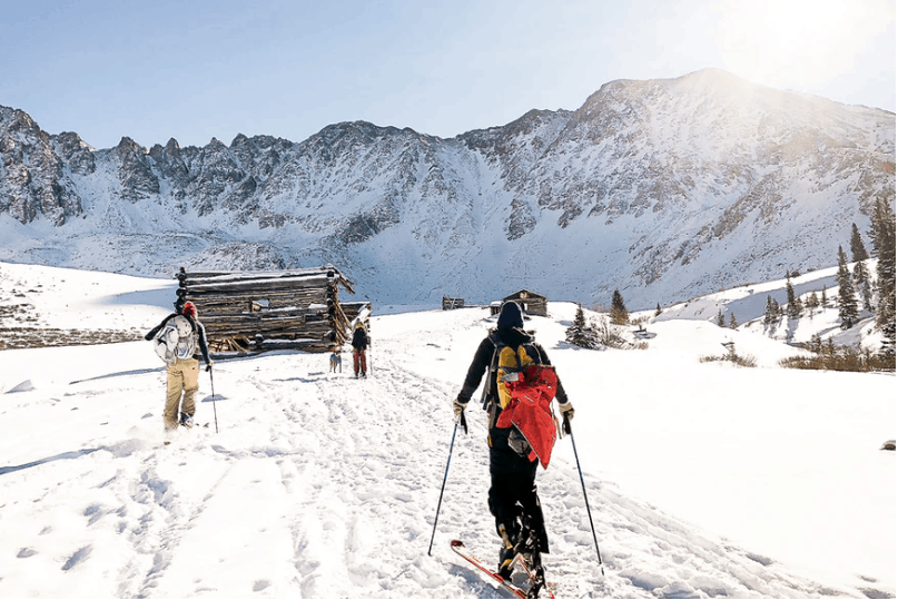 snow boarding activity during winter